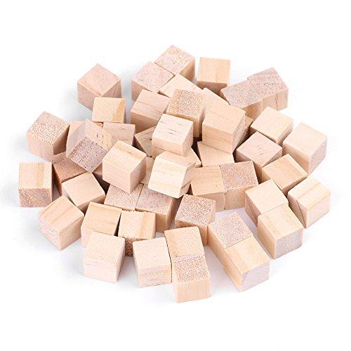 Akozon Cubos naturales de madera de pino