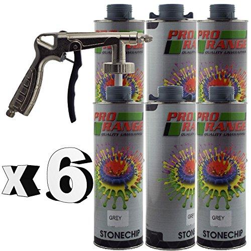 pro-range-6-x-1-litre-bottles-stone-chip-grey-air-application-gun-protection-paint-colour-paintable-
