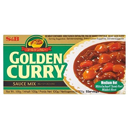 S & B Goldenen Curry Medium / Hot 100G