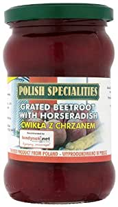 Polish Grated Beetroot with Horseradish 270 g (Pack of 10)