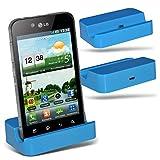 (Baby Blue)LG P990 Optimus 2x Micro-USB-Desktop-Ladestation stehen Berg By Fone-Case