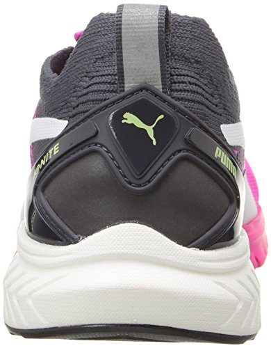 Puma Ignite Dual EvoKnit Synthétique Baskets Pink Glo-Periscope-White