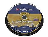 Verbatim DVD+RW 4.7GB - DVD+RW regrabables (10 unidades)
