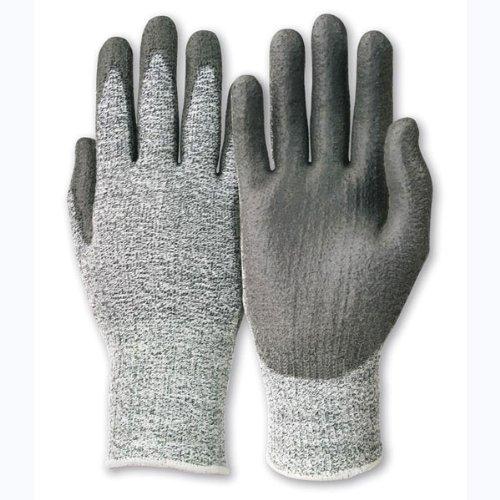 Handschuhe nahtloses Trikot, grau/schwarz, PU EN38, Handschuhgröße : 8, Farbe : grau/schwarz, VPE: 10 (Nahtloses Trikot)