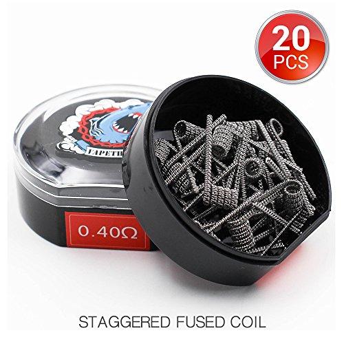 20 Stück Staggered Fused Vorkompilierte Draht by Vapethink, AWG(26GA+30GA) x2+ (30GA Loose), 0.4 ohm