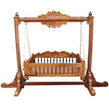 Aarsun Woods Wooden Baby Cradle Swing, Handcrafted Baby Products