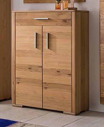 Vertiko in Wildeiche teilmassiv, Türen Echtholz; Maße: 83x36x115 cm