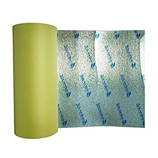 15 m x 100 cm breite Solar Bay Selbstklebende thermische und akustische XPEMP Schaumstoff-Isolierung für Wohnmobile, Wohnmobil, Unterlage und Haushalt