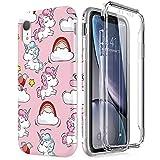 SURITCH Coque pour iPhone XR Protection à 360 Degrés Silicone Pleine Protection...