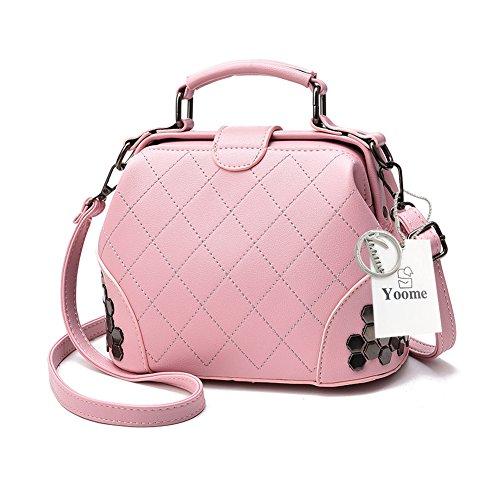 Yoome frizione con pattini gotico Bag Crossbody Top Handle Tote borse eleganti per borsa donna borsa - rosa Rosa