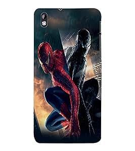 ColourCraft Superhero Design Back Case Cover for HTC DESIRE 816
