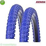 KENDA 01022009B 2 x K-51 Fahrrad BMX - Reifen Mantel Decke Blau 20 x 2.25-58-406