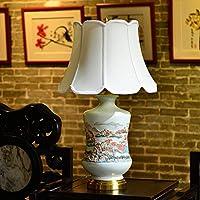 ZYCkeji Zart Tischlampe Schlafzimmer Nachttischlampe Wohnzimmer Studie Hotel Keramik Relief Warm Dekoration Tischlampe... preisvergleich bei billige-tabletten.eu