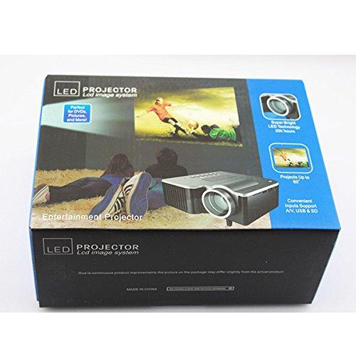 Portable Mini Projector Home Theater LED Projector 1080P AV SD VGA USB HDMI  Remote UK UK