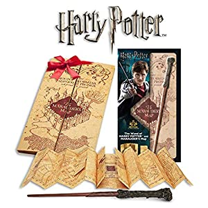 Noble Collection- Réplica Varita Harry Potter y Mapa del Merodeador, Multicolor (0849421004316)