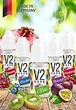 V2 Vape E-Liquid Set Spritzig ohne Nikotin 5x10ml - Luxury Liquid für E-Zigarette und E-Shisha Made in Germany aus natürlichen Zutaten 0mg nikotinfrei