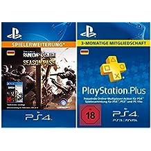 Tom Clancy's Rainbow Six Siege: Season Pass + PlayStation Plus Mitgliedschaft - 3 Monate [PSN Code - deutsches Konto]