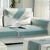 DULPLAY Volltonfarbe Sofabezug,Haustier Hund Couch Multi-Size Rechteckige Weich Wattiert möbel Protektoren-abdeckungen Separat erhältlich Anti-Rutsch Wasserdicht-B 70x70cm(28x28inch)