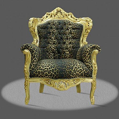 LouisXV Sillón barroco fauteuille estilo antiguo rococó AlCh0500GoLeoDia