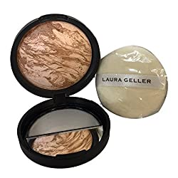 Laura Geller Baked Body Frosting with Puff in Tahitian Glow 0.32 oz