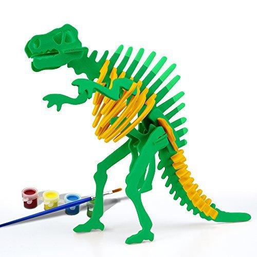 Funria 3D Hölzerne Puzzles Kunst-Projekte Handwerk Hölzerne Puzzle-Modell Spielzeug montieren Lack DIY Tier Woodcraft Puzzle Kit für Kinder