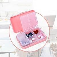 Tragbare Kleine Medizin-Box, Split-Box, Reise-Pill Box (Color : Pink) preisvergleich bei billige-tabletten.eu