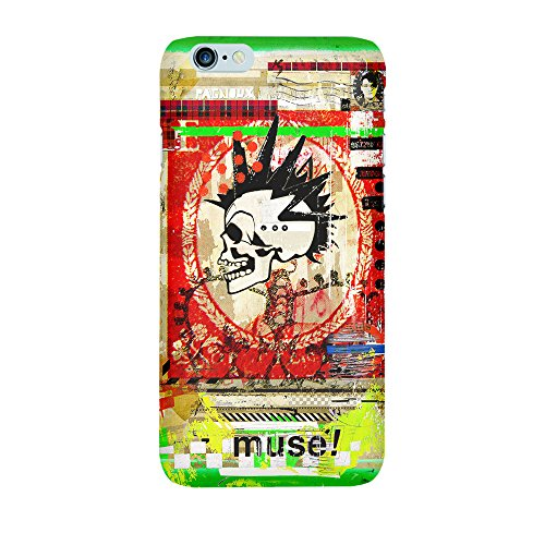 """artboxONE Handyhülle Apple iPhone 6, weiß Sideflip-Case Handyhülle """"muse Case"""" - Abstrakt Collage - Smartphone Sideflip Case mit Kunstdruck von Sandrine Pagnoux Premium Case"""