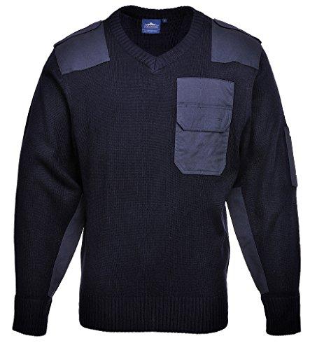 Nato-Pullover / Bundeswehr-Pullover, Größe XL, V-Ausschnitt, dunkelblau, mit Besätzen, lieferbar von Größe XS - XXXL