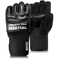 Guantes MMA profesionales - calidad profesional - hecho en alta calidad - boxeo, entrenamiento, saco de arena, saco de boxeo, freefight, agarre, artes marciales - negro - guantes de boxeo