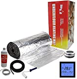 Electric Underfloor Foil Heating kit 150w - 24.0m2 - Black Touch Thermostat