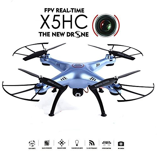 Creation® SYMA X5HC 2.0MP HD macchina fotografica RC Quadcopter con 360 ° eversione modalità senza testa alta premuto MODE Funzione 2.4GHz 4CH 6 Axis Gyro Drone