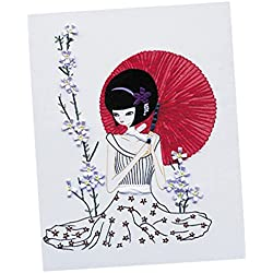 Sharplace Seidenband Stickerei Kit, Diy Handgemachte Damen Stick Wandbilder