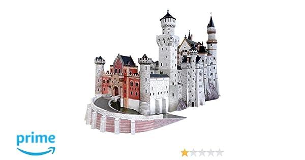 Castelli Di Cartone Streaming : Keranova keranova157 puzzle 3d del castello di neuschwanstein scala
