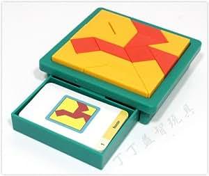 Great Tangram Gift Kids Innovative Pattern Puzzle Logic Brain Game 60 Challenge