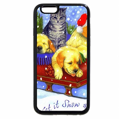 iPhone 6S / iPhone 6 Case (Black) Let's it Snow Together
