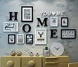 KTYX Schlafzimmer-Verzierung, kreativer Foto-Rahmen-Kombination von 9 Stücken (163 * 86CM) Bildrahmen