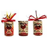 3 x HOT PEPPER CHILLI MINI SAUCES DEGUSTABOX -...