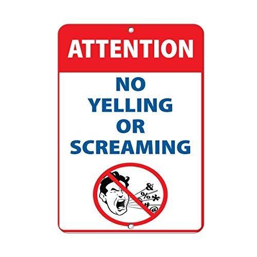 Aufmerksamkeit keine Yelling oder Screaming Aktivität Pool Home Decor Metall Schild für Outdoor Yard Sicherheit Schild