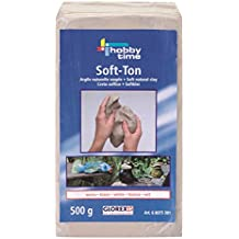 GLOREX 6 8075 101 Soft-Ton, Modelliermasse, weiß, 20, 2 x 13 x 1, 3 cm
