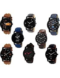 Xforia Boys Watch Multicolor Leather New Collection Analog Watches For Men Pack Of 8