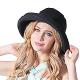 CACUSS Damen Strand Hat Eimer Hut klappbare Kappe Sommer Sonne Hüte Rollen birm UPF 50+