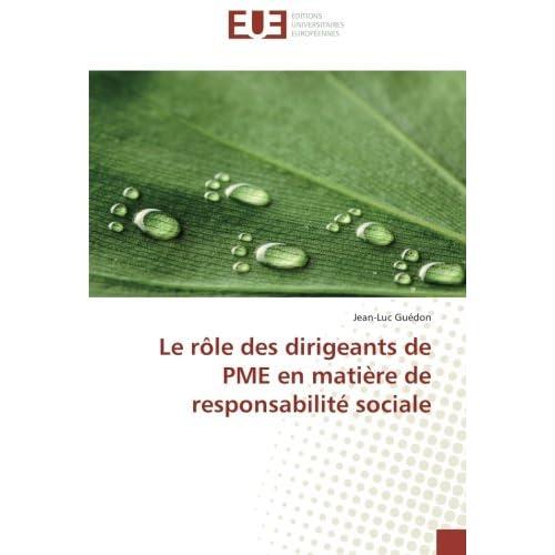 Le rôle des dirigeants de PME en matière de responsabilité sociale