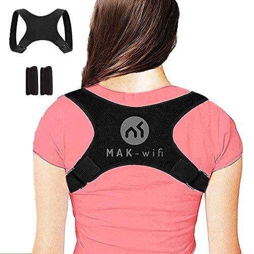MAK-wifi Haltungskorrektur rücken Herren | Damen, für Eine Bessere Körperhaltung und Unterstützung des Rückens Damen Herren Geradehalter | Haltungsbandage Rückenstützgürtel S-M-L Nova-Form