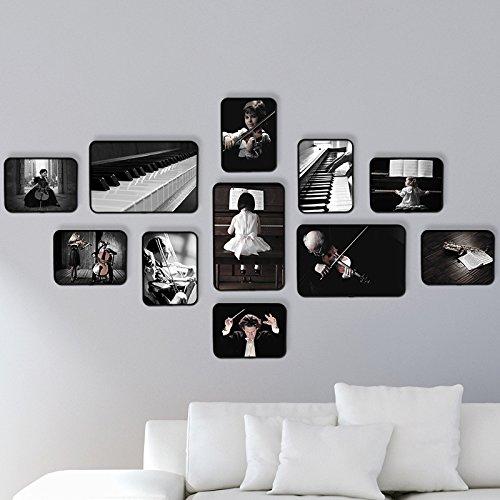 Musica Foto AN DER Wand la parete camera da letto il Piano di nero e bianco  muro dipinto nel soggiorno sofa1.Musica un pacchetto