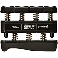 ProHands Gripmaster Heavy Tension Hand and Finger Exerciser - Black, 9 Pounds