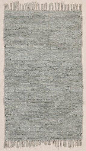 Fleckerlteppich Abano, aus 100% Baumwolle, strapazierfähig und robust, bis 30 C° waschbar Handwäsche, Farbe:Grau;Größe:50 x 80 cm