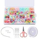 BROTOU Kit De Loisirs Créatifs Kit Perles Enfants,Ensemble de Fabrication de Cordes en Perles