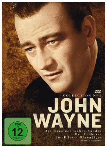 John Wayne Collection : Das Haus der sieben Sünden-Der Eroberer-Jet Pilot (3 DVD - Wayne John Collection Western