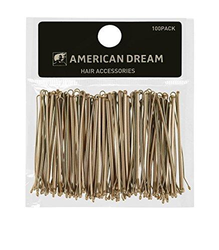 American Dream Pinces à Cheveux 6,35 cm Blond 100 Grips