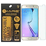 iKare Tempered Glass Front Back Screen Protector for Samsung Galaxy S6 Edge (Impossible Glass, REUSABLE, ULTRA CLEAR, REAL SHOCK PROOF, UNBREAKABLE)